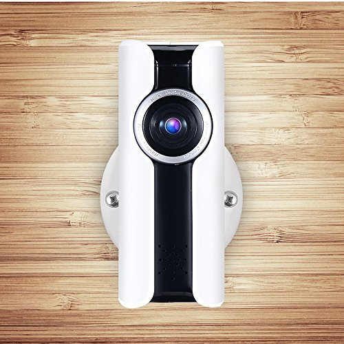Camera IP-camera, wifi, 360° hd 1080P, Home-Security, Home Baby Monitor met digitale microfoon, VR Wireless Mini Spy Nanny Cam, externe toegang via iOS&Android smartphone, Mac Tablet Slot, zie met Micro SD P10-sleuf.