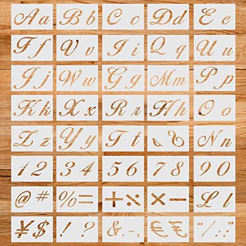 Juego de 40 plantillas de letras de arte, reutilizables, con símbolo de...