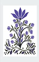 Purple Flowers Ultimate Dual Working Notebook: Hybrid Half Dot Graph / Half Blank Line Composition Journal