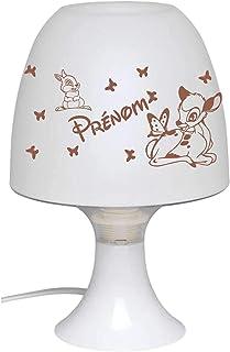 Lampe de Chevet Veilleuse Enfant Bébé à Personnaliser avec Prénom Décoration Chambre Bureau Cadeau Original Naissance Bapt...