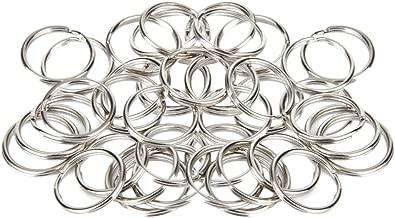 Anelli Portachiavi 20 mm, 100 Pezzi, Colore Argento
