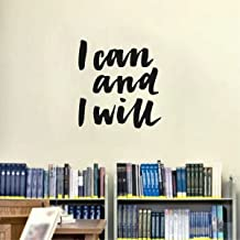 Rawpockets 'I Can' Wall Sticker (PVC Vinyl, 50 cm x 43cm, Black)