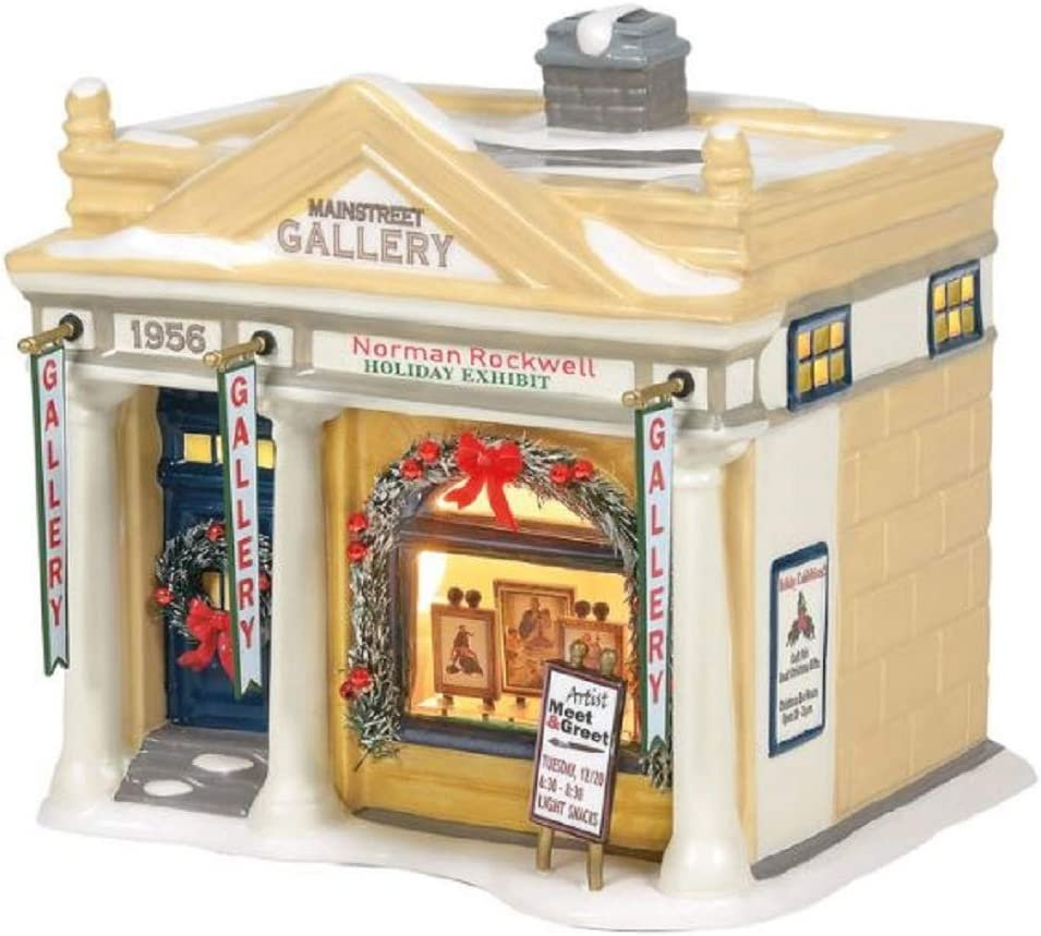 Department 56 Snow Village Rockwell's Cheap super special price Exhibit Building Selling and selling 6 Holiday