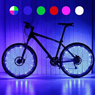 MACYWELL Bike Wheel Lights LED Bike Spoke Light Bicycle Wheel String Light Waterproof Cycling Decorations (1 Tire Pack)