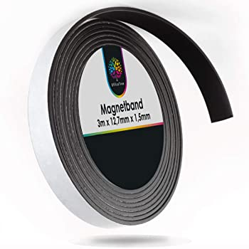 Seite B//Seite B oder beidseitig braun 5m Side A Selbstklebendes Magnetband von HomeOutdoor/® 12 mm x 5 m