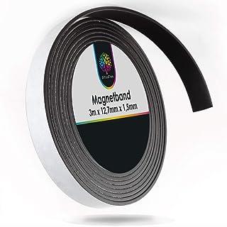 comprar comparacion OfficeTree Cinta Magnetica Adhesiva 3 m - Tira de Iman para la imantación Fija de Carteles, Fotos, Papeles - Adherencia Ex...