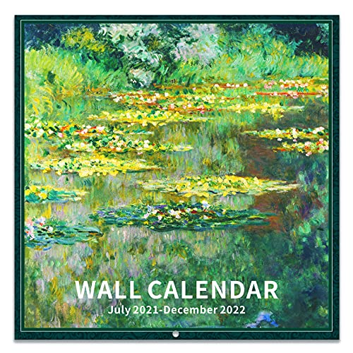 2021-2022 Wall Calendar - 18 Monthly 2021-2022 Calendar, 12 x 12 Inch with Thick Paper and Bright Colors, Jul. 2021- Dec. 2022 - Art Paintings