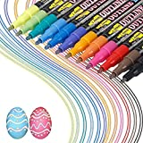 Los bolígrafos de contorno más nuevos,12 colores, bolígrafos de contorno de doble línea, tarjeta de regalo, bolígrafos de dibujo para felicitaciones de cumpleaños, escribir en cuadernos (12 colores)