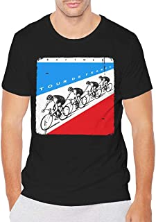 Kraftwerk Tour De France Mens Top Classic Basic Short Sleeve Tshirt Black