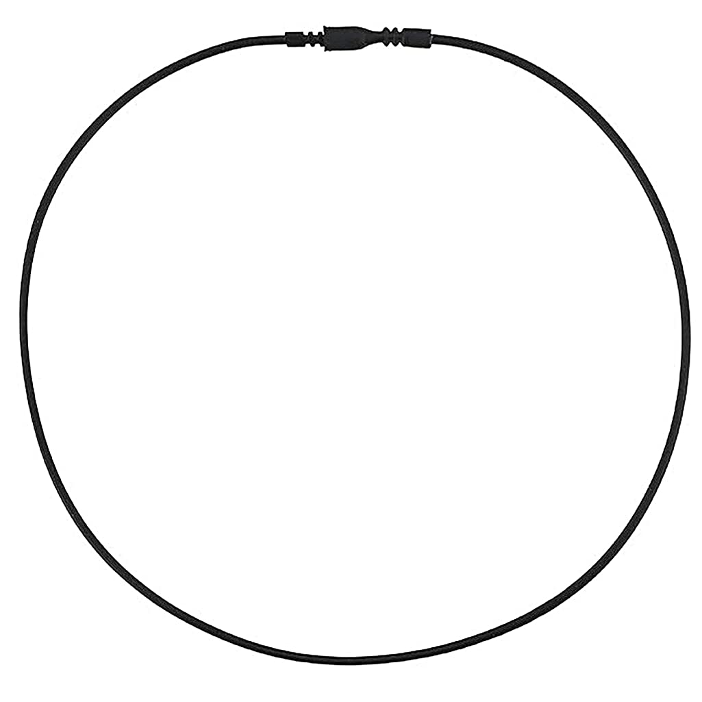 DragonWeave Black Rubber 2mm Tube Cord Necklace with Easy Locking Clasp - 18 inches