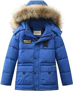 3868601053 Homieco Bambini Giubbotto Piumino Invernale Ragazzi Leggero lungo Inverno  giu Cappotto giù il collo di pelliccia