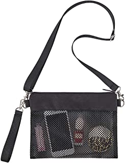 Clearworld Mesh Crossbody Bag for Women, Small Shoulder Purse and Handbags, Lightweight Wallet Purse with Detachable Shoulder Strap and Wrist Strap