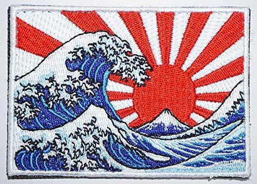 [Japan Import] 100% Embroidery Japan Patch Patches Hokusai Katsushika Ukiyo-e A0225