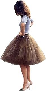 Babyonlinedress Damen Tüllrock 5 Lage Prinzessin Falten Rock Tutu Organza Petticoat Ballettrock Unterrock Pettiskirt