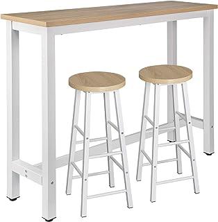 ristorante Tavolo da bar 56 x 106 x 114 cm caffetteria GOTOTOP tavolo da bistro per casa con 3 ripiani