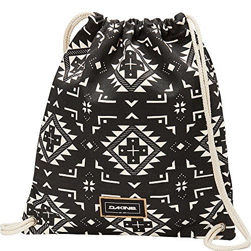 DAKINE Paige Rucksack aus Baumwolle, schwarz, weiß, Bedruckt, Damen, Kordel, 350 mm