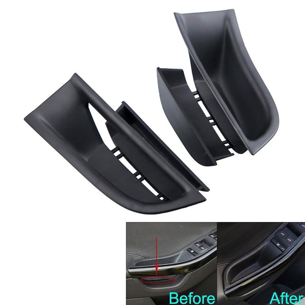 戦略郵便屋さん各Jicorzo - For Ford Focus 2011-2016 Car Inner Door Armrest Box Storage Holder Container Cover 2PC ABS Car Styling Tidying Storage Organizer [Black]