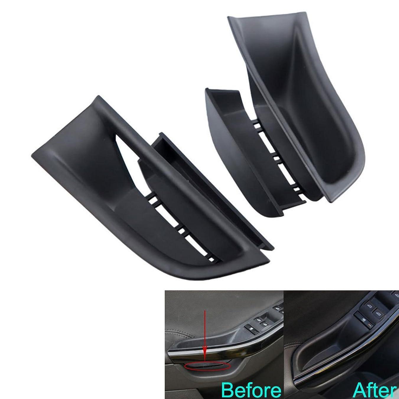あごウィザード著名なJicorzo - For Ford Focus 2011-2016 Car Inner Door Armrest Box Storage Holder Container Cover 2PC ABS Car Styling Tidying Storage Organizer [Black]