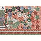 Hans-Textil-Shop - Calendario de Adviento (tela, 100 x 140 c