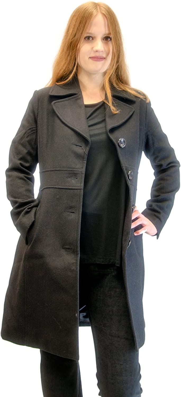 Coat  Virgin Wool Blend Pea Coat