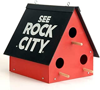 oldzon See Rock City Birdhouse Purple Martin Bird House Feeder Garden Yard Rustic Decor with Ebook
