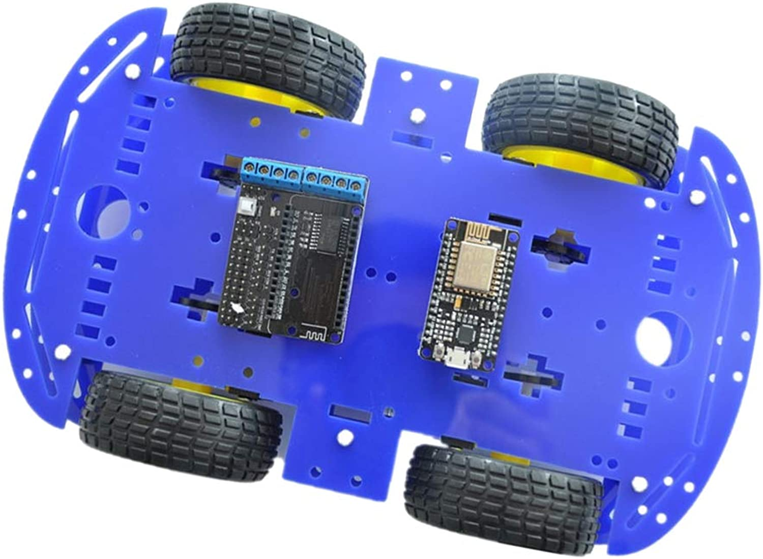 MagiDeal 4WD Robot Car for Arduino DIY Learning Kit Android