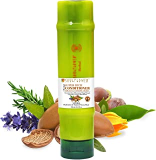 Soulflower Herbal Super Rich Silicone Free Leave-in Conditioner With Argan, Essential Oils of Rosemary & Lavender, For Smo...