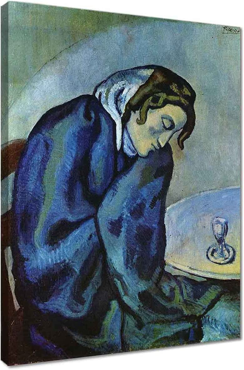Drunk woman Regular dealer is tired by Pablo Picasso Art Canvas f Wall Super special price Abstract