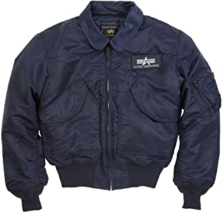 Alpha Industries CWU 45/P Flight Jacket (2XL, Replica Blue)