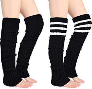 Joyingtwo Thigh Highs Leg Warmers for Women Over Knee High Leg Warmer Crochet Long Socks