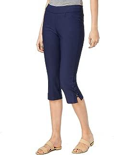 Lee Womens Navy Blue US Size 8 Pull On Split Hem Cropped Stretch Pants