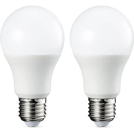 Amazon Basics Ampoule LED E27 A60 avec culot à vis, 9W (équivalent ampoule incandescente 60W), blanc froid - Lot de 2