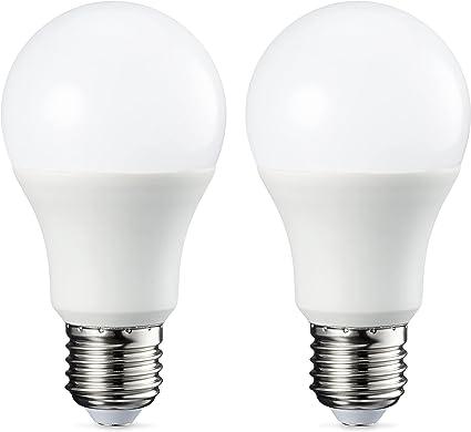 Amazon Basics Ampoule LED E27 A60 avec culot à vis, 9W (équivalent ampoule incandescente 60W)