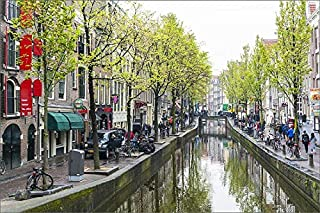 robertharding 12x8 Print of Canal in The Red Light District, Amsterdam, Netherlands, Europe (13758952)