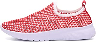 AUCDK Couples Mesh Sock Sneakers Summer Hole Slacker Shoes Breathable Low Top Trainers Casual Walking Shoes