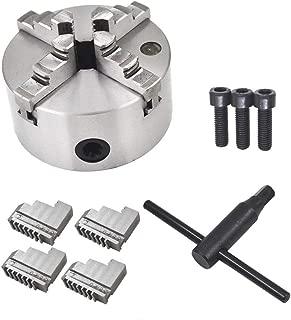 New 4/'/' Lathe Chuck K12-100 4 Jaw Self Centering CNC Wood Turning Reversible Jaw