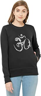 WYO Women's Full Sleeve Length Sweatshirt for Winter Wear with Graphic Print(Om Smoke Design)
