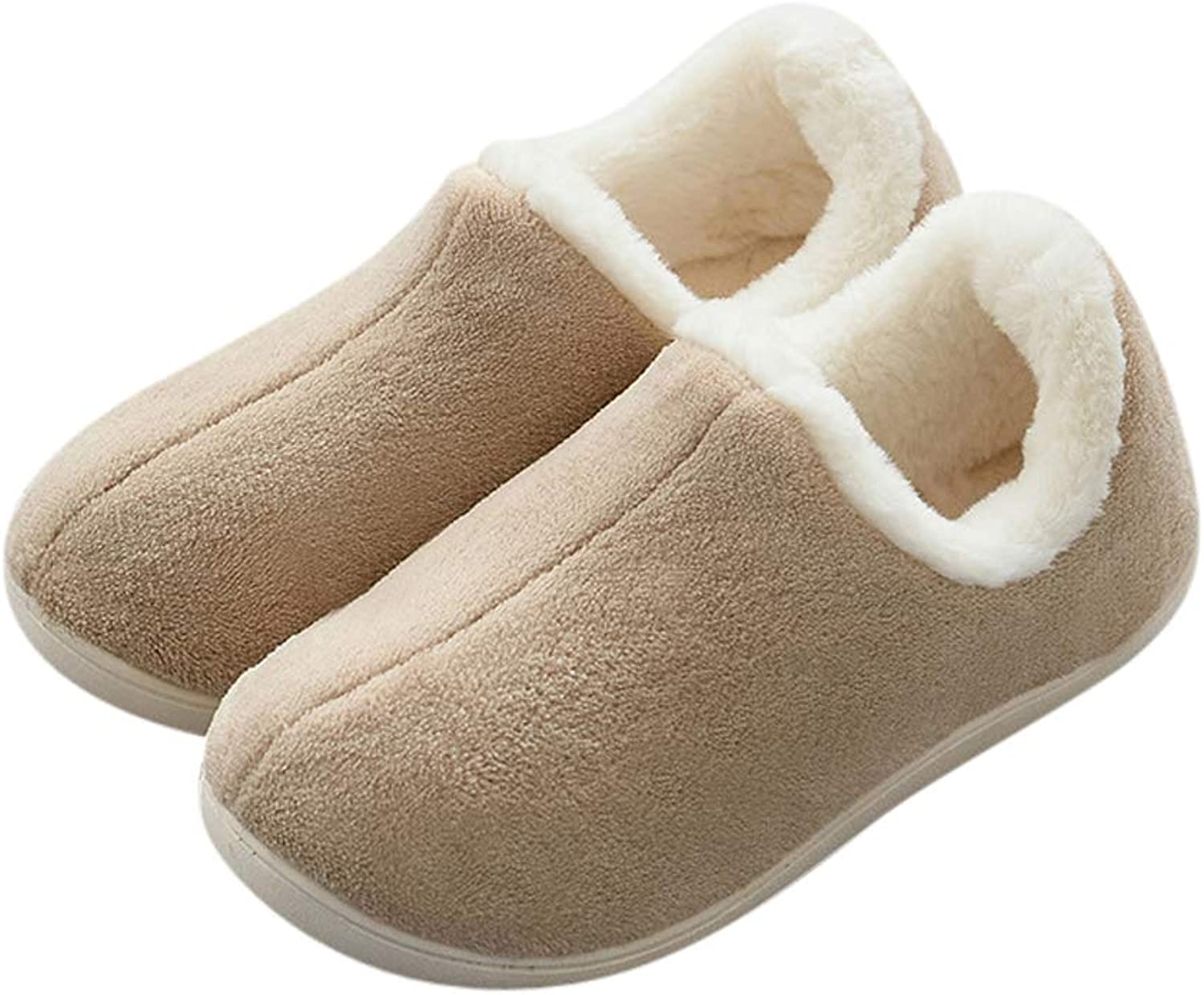 Tuoup Women's Fuzzy Fashion Anti-Slip Outdoor House Bootie Slippers