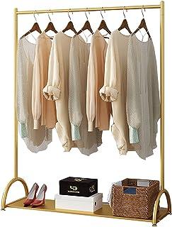 MissZZ Porte-vêtements Porte-vêtements Multifonctionnel avec étagères, Porte-vêtements Suspendus à Une Tige en Fer forgé M...