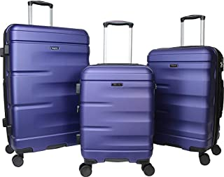 Dejuno Emerson 3-Piece Hardside Expandable Spinner Luggage Set-Navy