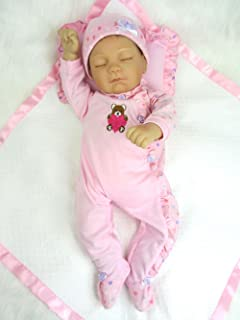 AVANI DOLL ''Anna'',18 inch Realistic Reborn Baby Doll Handmade Lifelike Baby Doll That Looks Real,Weighted Sleeping Baby Girl Doll