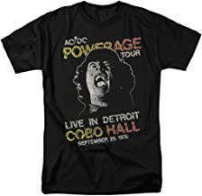 AC DC Powerage Tour Detroit 1978 Live at Cobo Hall T Shirt & Stickers