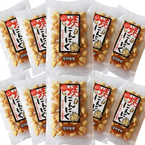 焼にんにく 信州味噌味80g×10袋 まとめ買いセット 毎日の健康スナック サクサクフライドガーリック