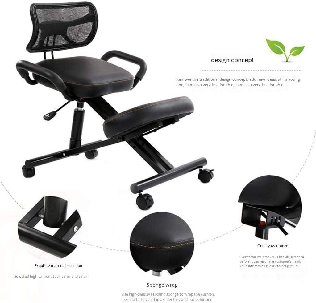 AYHa Agenouillé chaises avec dossier et ndash; Cadre ergonomique Posture Bureau Tabouret Chaise Siège de soins de santé, chaises de bureau,rouge Rouge