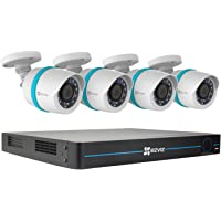 EZVIZ BN-1844A2 8-Channel NVR with 4x 4MP Outdoor Network Bullet Cameras and 2TB HDD