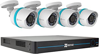 EZVIZ 8-Channel NVR with 4x 4MP Outdoor Network Bullet Cameras