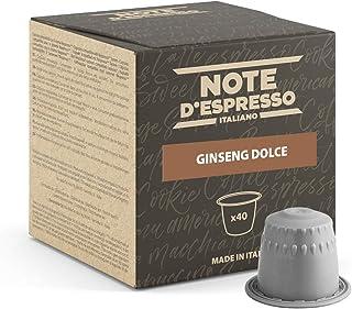 Note d'Espresso - Ginseng Doux - Capsules Exclusivement Compatibles avec Machine NESPRESSO* - 40 x 6,5 g