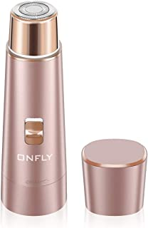 Facial Hair Removal for Women, ONFLY USB Rechargeable Waterproof Hair Remover Electric Shaver Razor for Peach (Rose Gold)