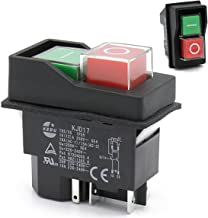 KJD17 4-Pin Release Switch 250V PVC Start/Stop No Volt Switches For Workshop Machines