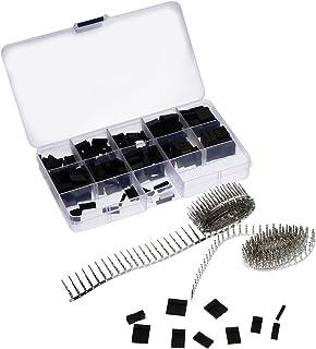 DOITOOL Conectores jumper macho, fêmea, cabo terminal de pino de crimpagem, kit de 610 peças